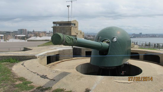 Fort Scratchley: historic cannon