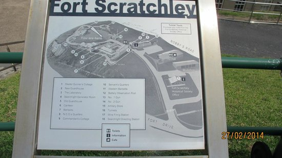Fort Scratchley: fort map