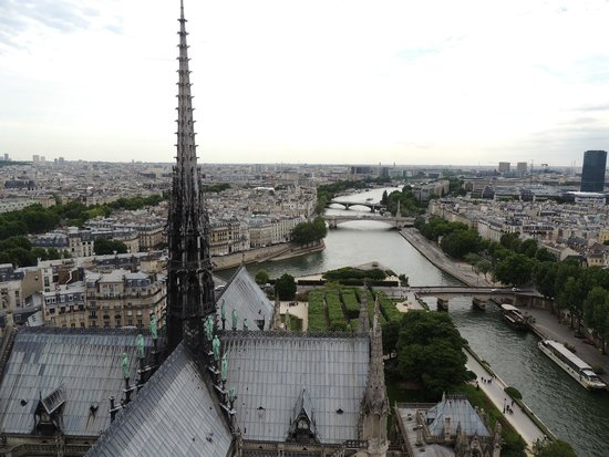Cathédrale Notre-Dame de Paris : View from the towers of the back
