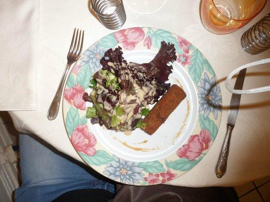 Hotel Vuillot : Comté pané et salade