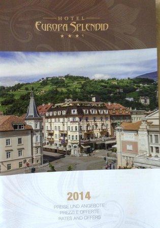 Hotel Europa Splendid: The hotel's brosjure