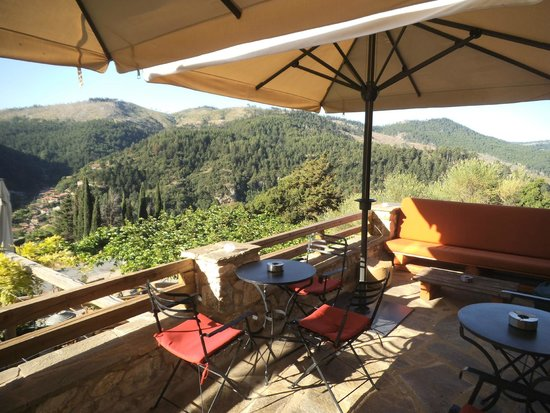 Pritanio Guesthouse: view from the bar terrace