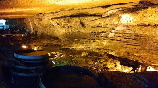 Cave Vineyard: Stream that runs through cave.