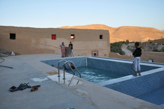 Berber Cultural Center: the pool on the roof