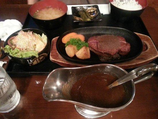 Steak House Mihashi: Japanese Beef Steak with Garlic Sauce