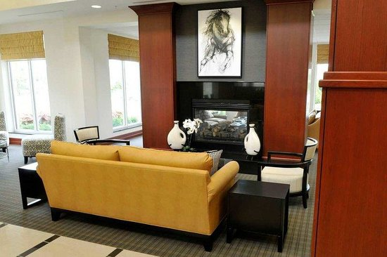Hilton Garden Inn Louisville Northeast: Lobby Fireplace
