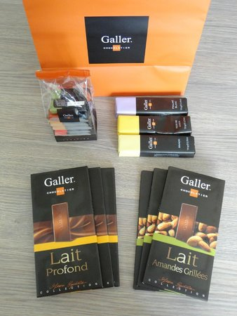 Galler Chocolatier : Selection of chocolate from Galler
