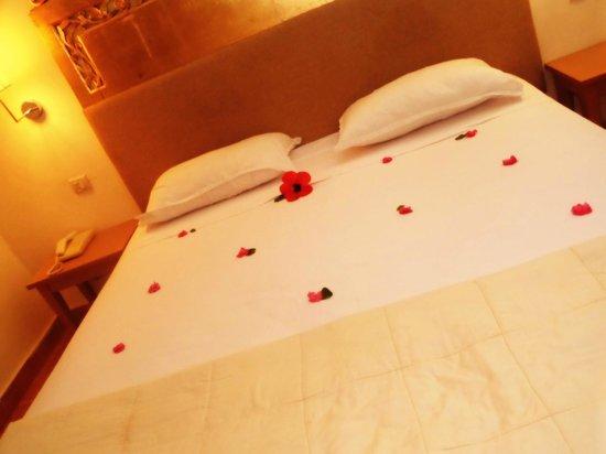 Hotel Isis Thalasso & Spa : lit dans la chambre