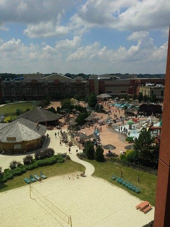 Kalahari Resorts & Conventions: view from 6th floor of the Sands