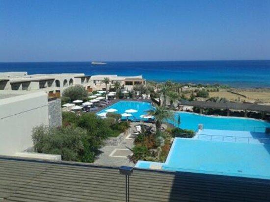 AquaGrand Exclusive Deluxe Resort: Uitzicht vanaf receptie
