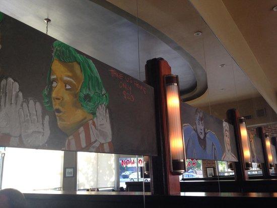 Standard Diner: Chalk art over booths