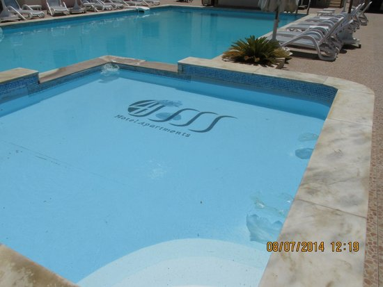 4S Hotel: Pool full of rubbish and dead insects