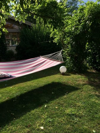 Bernos-Beaulac, France: Comfy hammock to rest and read