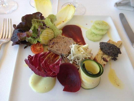 """Les Girelles : Entrée du menu """"Pause du midi"""""""