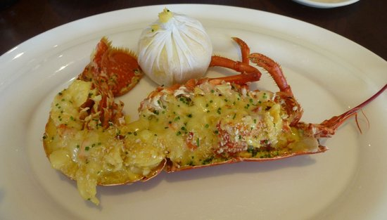 The Crab at Bournemouth : delicious lobster thermidore