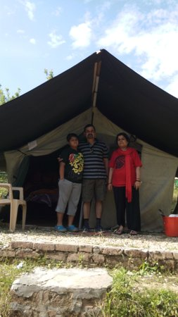 C& X-Terra Ranichauri by Nature Connect Outdoors Pvt. Ltd. the & the tents with beds - Picture of Camp X-Terra Ranichauri by ...