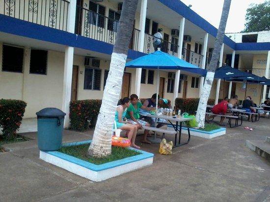 Hotel Penamar: frente al restaurante