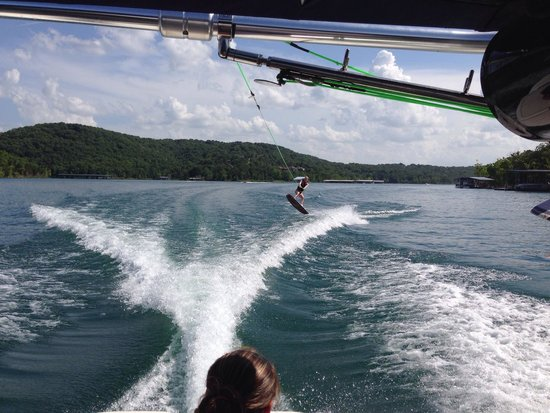 Table Rock Lake: Great Lake for wakeboarding due to long, private coves with little boat waves or wind created wa