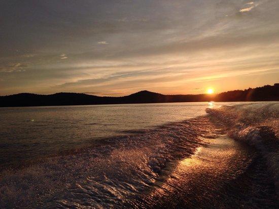 Table Rock Lake: Sunset where the lake meets the White River - June 2014