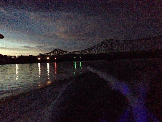 Table Rock Lake: Bridge 13 at night - June 2014