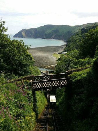 Lynton and Lynmouth Cliff Railway: View from the train