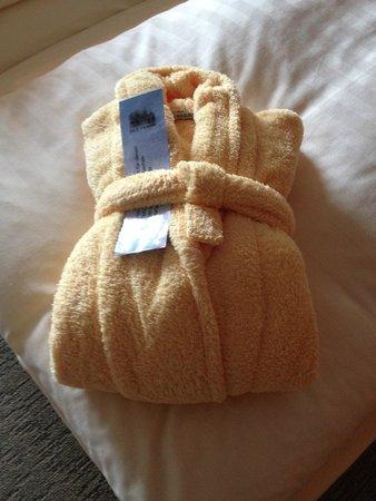 Hotel Land Gut Höhne: Soft and comfortable bathrobe