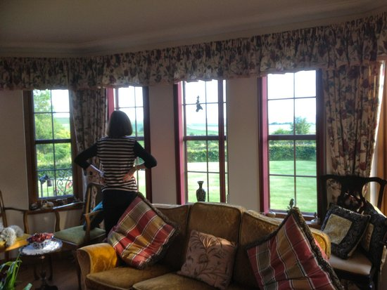 Falls of Holm: guest lounge & view