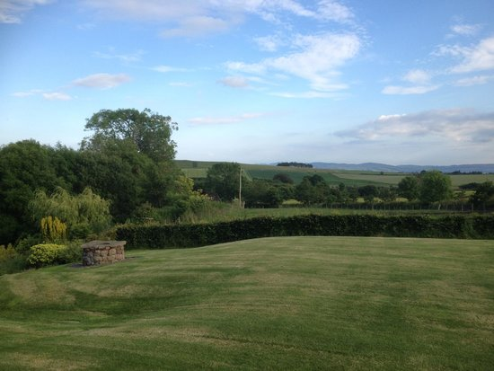Falls of Holm: view from guest lounge