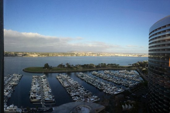 Marriott Marquis San Diego Marina: View from my room, Coronado in the distance