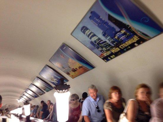 Metro Moskau: ชันมาก บันไดเลื่อน