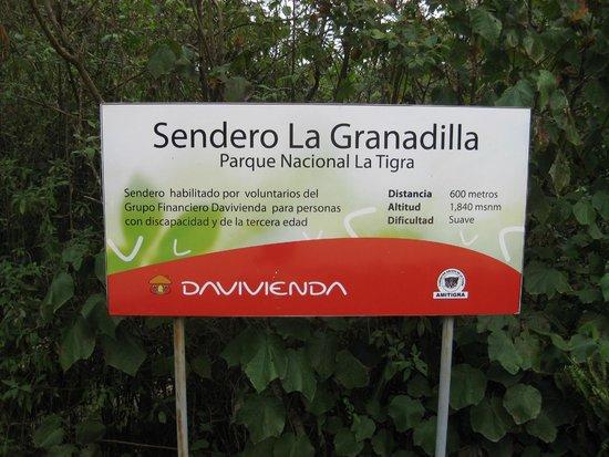 Parque Nacional La Tigra: Excellent signage throughout the park
