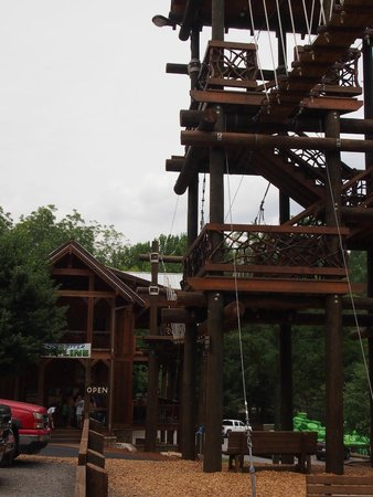 Cool River Adventures: First platform from parking lot