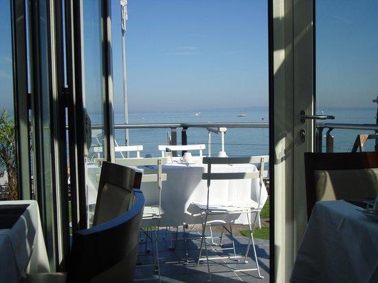 Hotel Weisses Rössli: Ausblick aus dem Frühstückraum