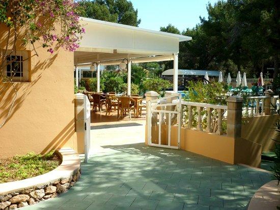Ses Eufabietes: Terrasse et piscine