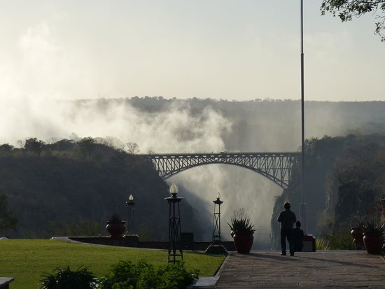 The Victoria Falls Hotel: View of the Bridge