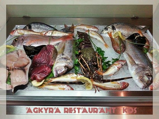 Agkyra Fish Restaurant Fresh Of The Day Ready To Be Prepared With Love For