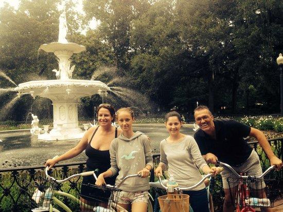 Savannah Bike Tours: At Forsyth park fountain