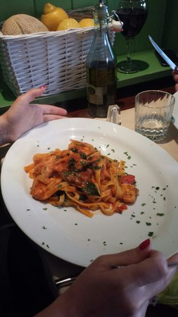 That's Amore: Tagliatelle with monkfish