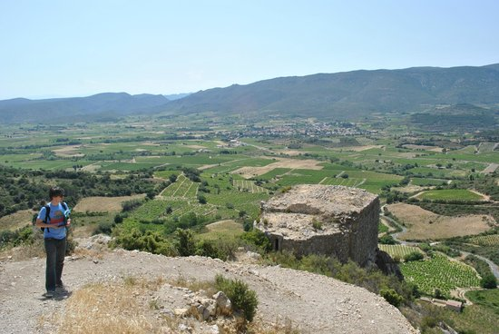 Château d'Aguilar : View from up there