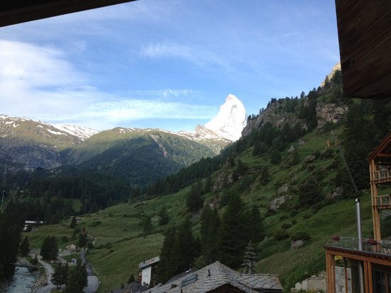 Coeur des Alpes: The Matterhorn from our balcony on a clear day