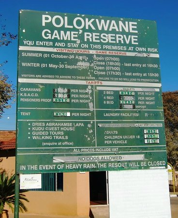 Polokwane, Zuid-Afrika: info table