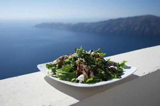 Andromeda Villas: lunch, salad, roomterass
