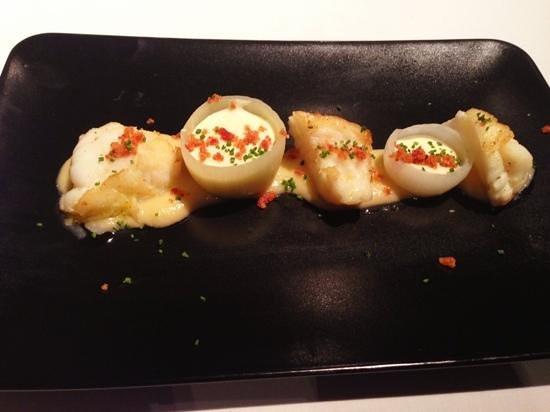 Cocinandos: Rape asado, cebolletas y crema ahumada