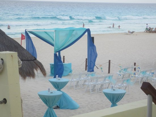 Paradisus Cancun: wedding set up
