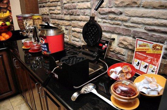 Staybridge Suites Corpus Christi: Breakfast Area - Waffles, Hot/Cold Cereal, Fresh Fruit