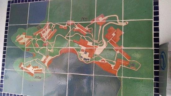 Las Brisas Huatulco: Hotel map