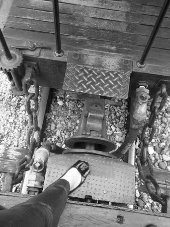 Steam train to Sao Joao del Rei : Trilhos e vagoes