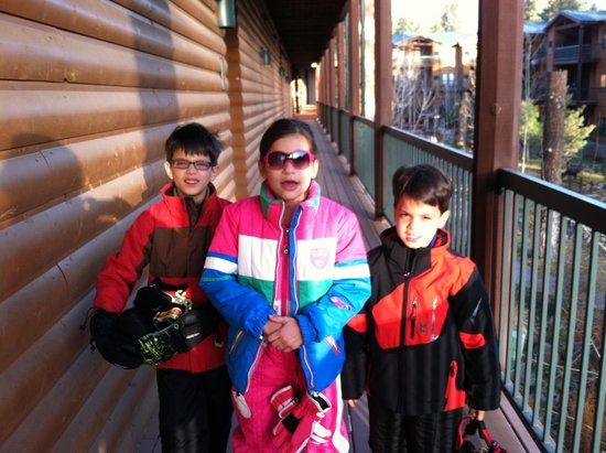 Ruidoso River Resort: Our little ones suited up for skiing