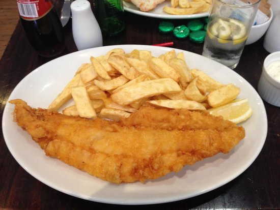Kennedy's of Goswell Road: The Fried Cod with Chips. Excellent.