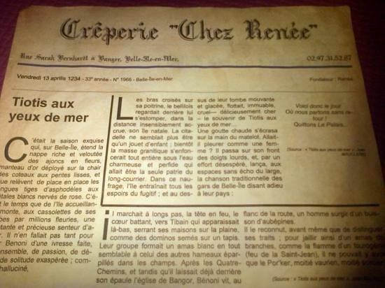 Creperie Chez Renee : en attendant les crèpes...